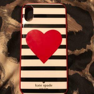 Kate Spade Striped Heart iPhone X Case